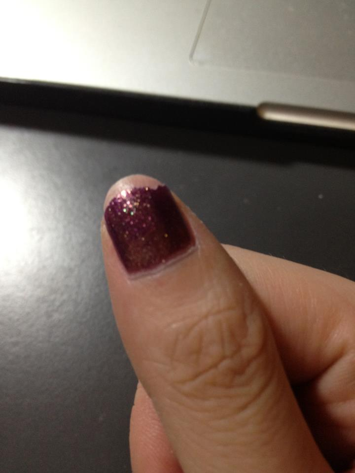 Never had a nail break completely through before