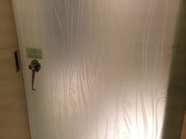 Cubicle Frosted Glass Door