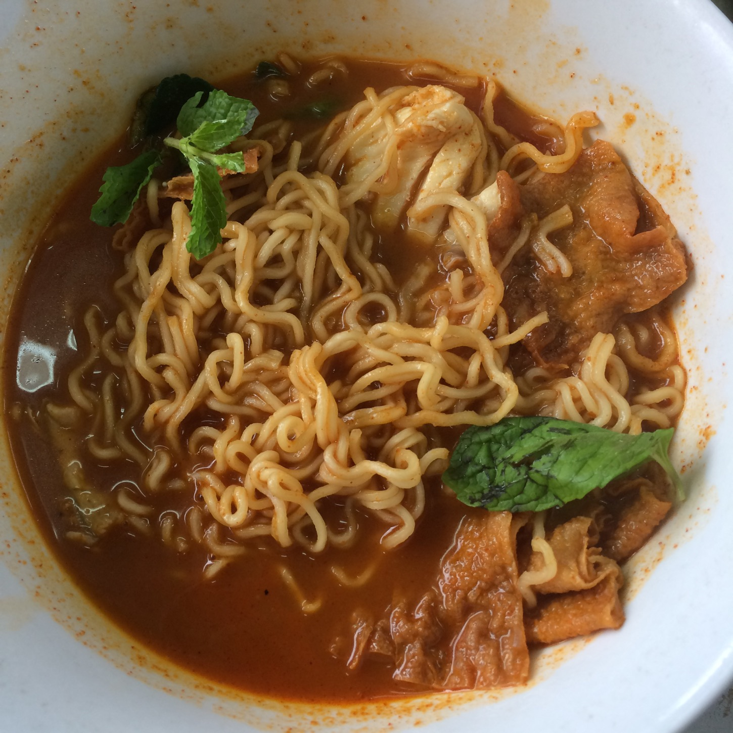 Tom Yum Maggie with Fresh Fish