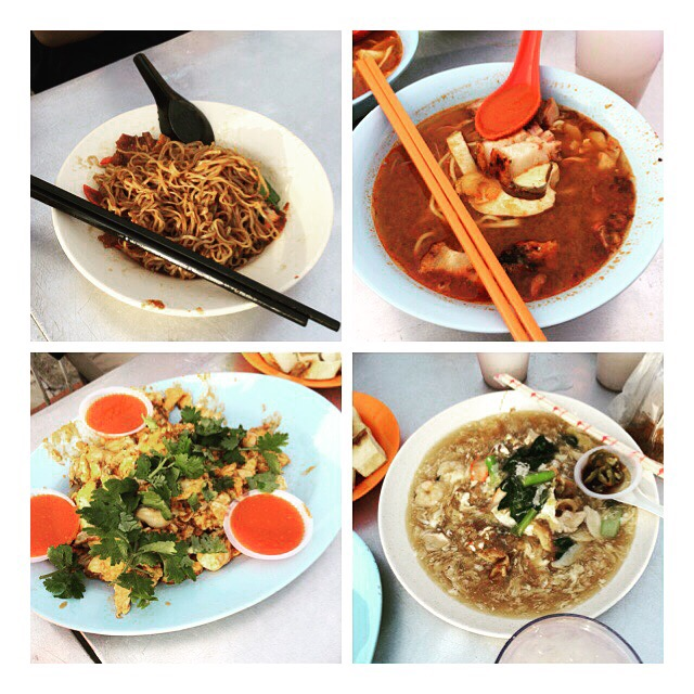 Wanton mee, Prawn Noodle, Orh Jian and Hor Fun